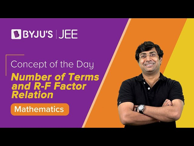 Number of Terms and R-F Factor Relation