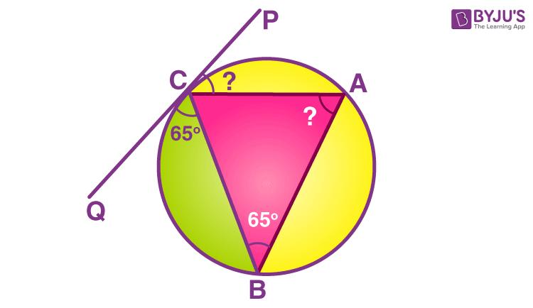 Alternate Segment Theorem Example 1