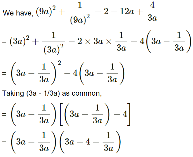 Concise Selina Solutions for Class 9 Maths Chapter 5 Factorisation - 1