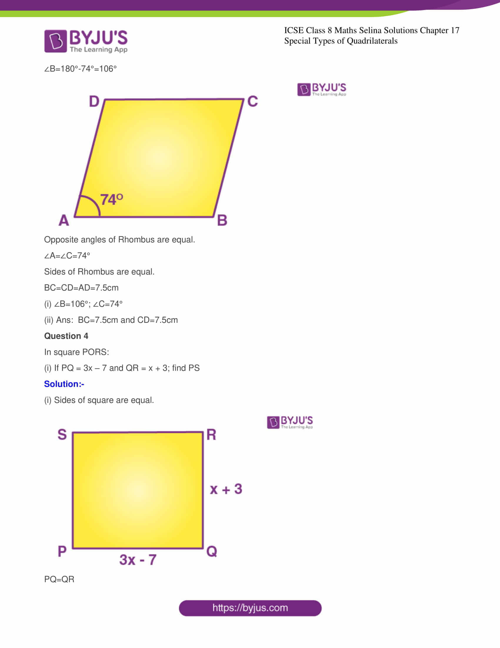 icse class 8 maths may3 selina solutions chapter 17 special types of quadrilaterals 03