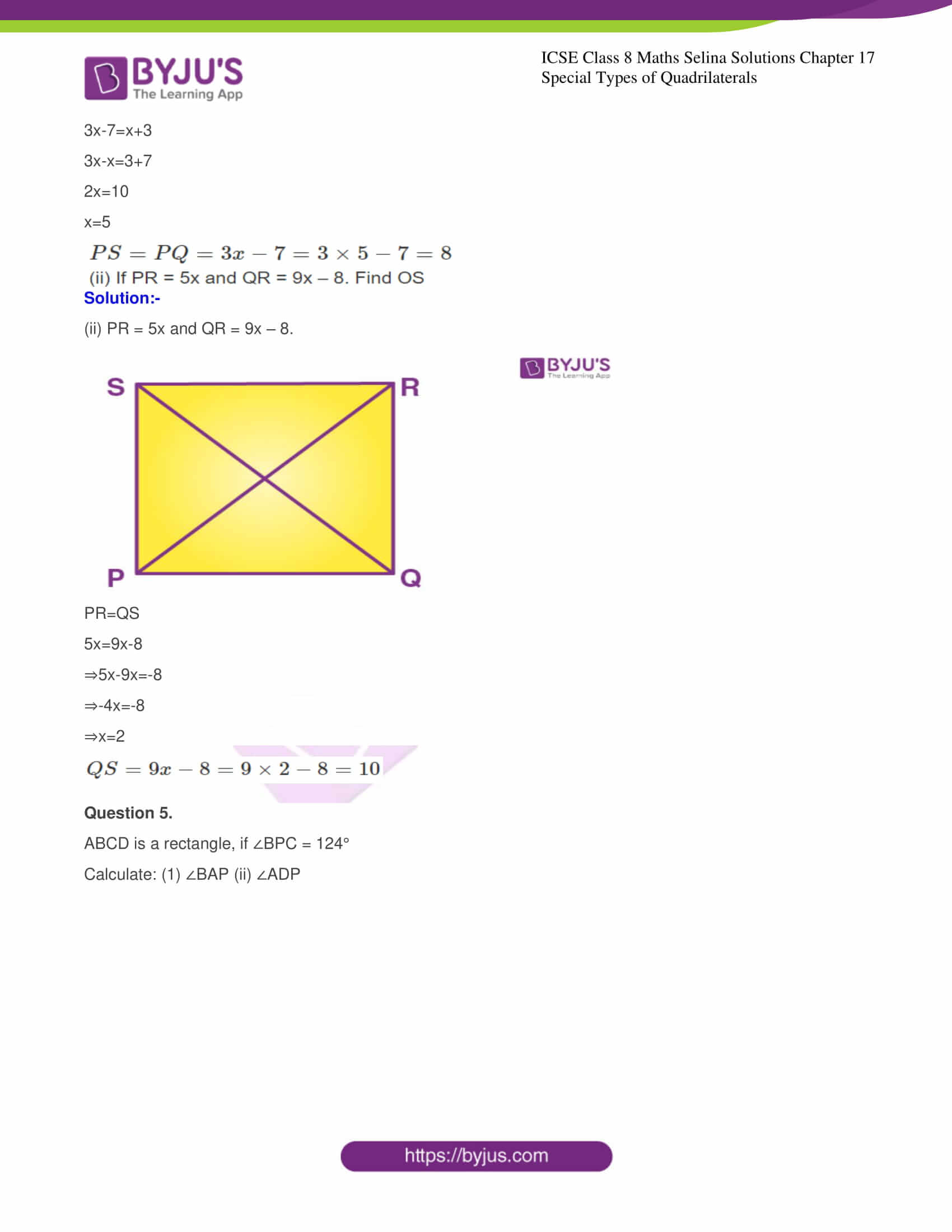 icse class 8 maths may3 selina solutions chapter 17 special types of quadrilaterals 04