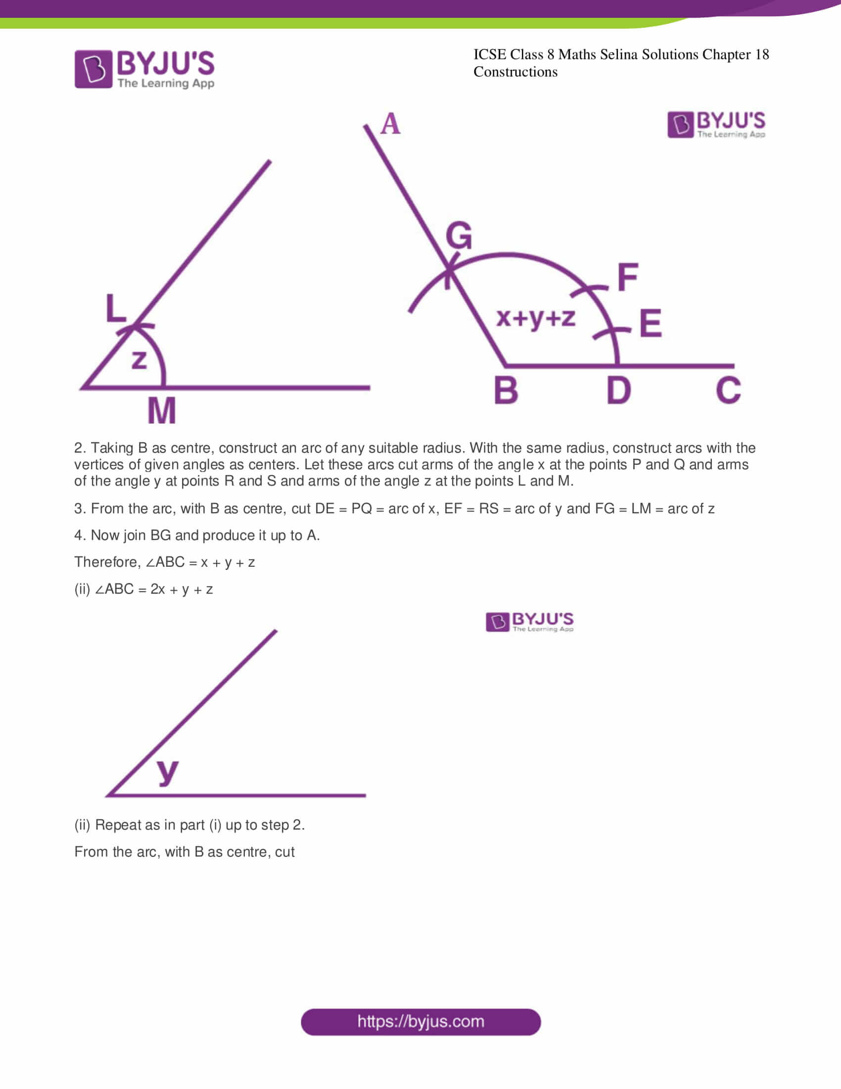 icse class 8 maths may3 selina solutions chapter 18 constructions 04