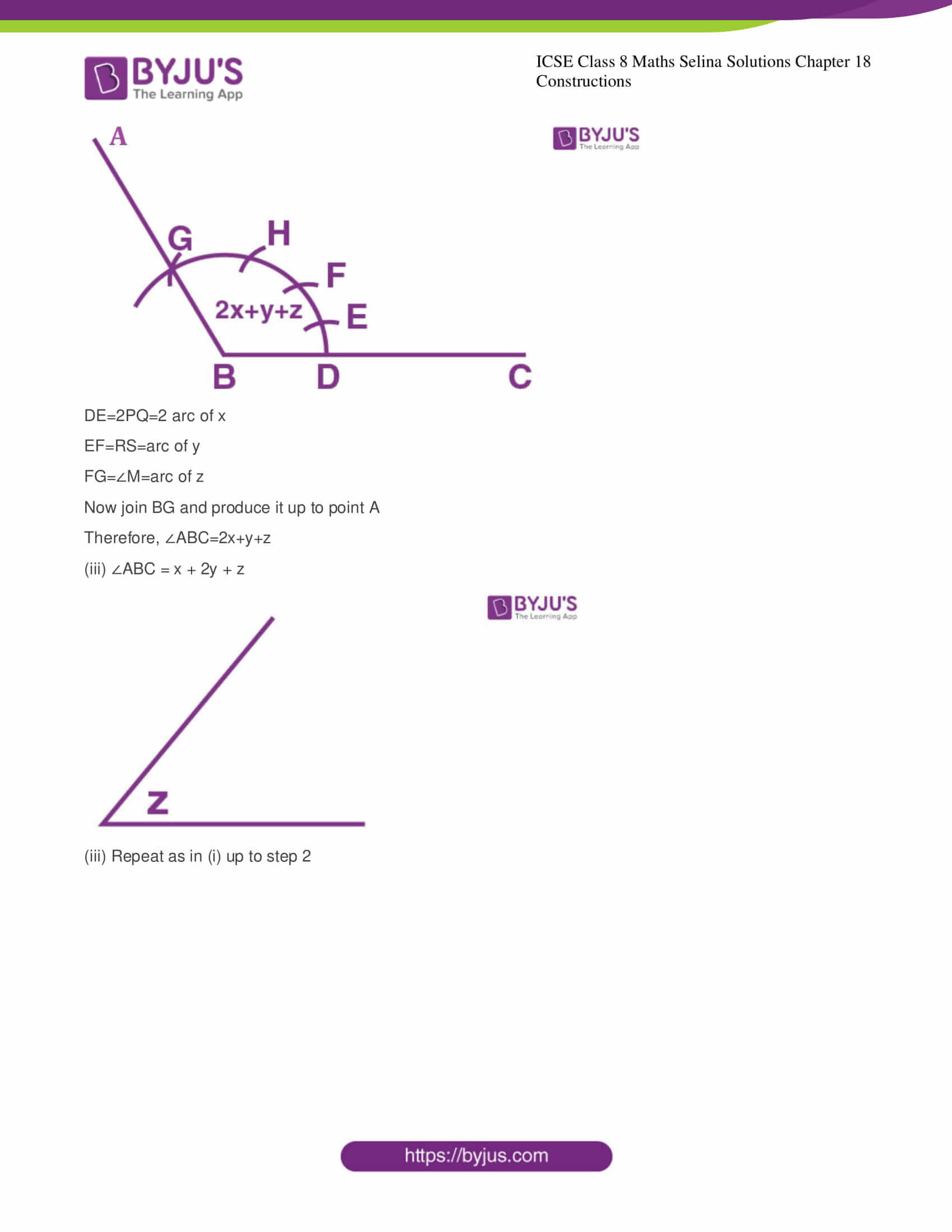 icse class 8 maths may3 selina solutions chapter 18 constructions 05