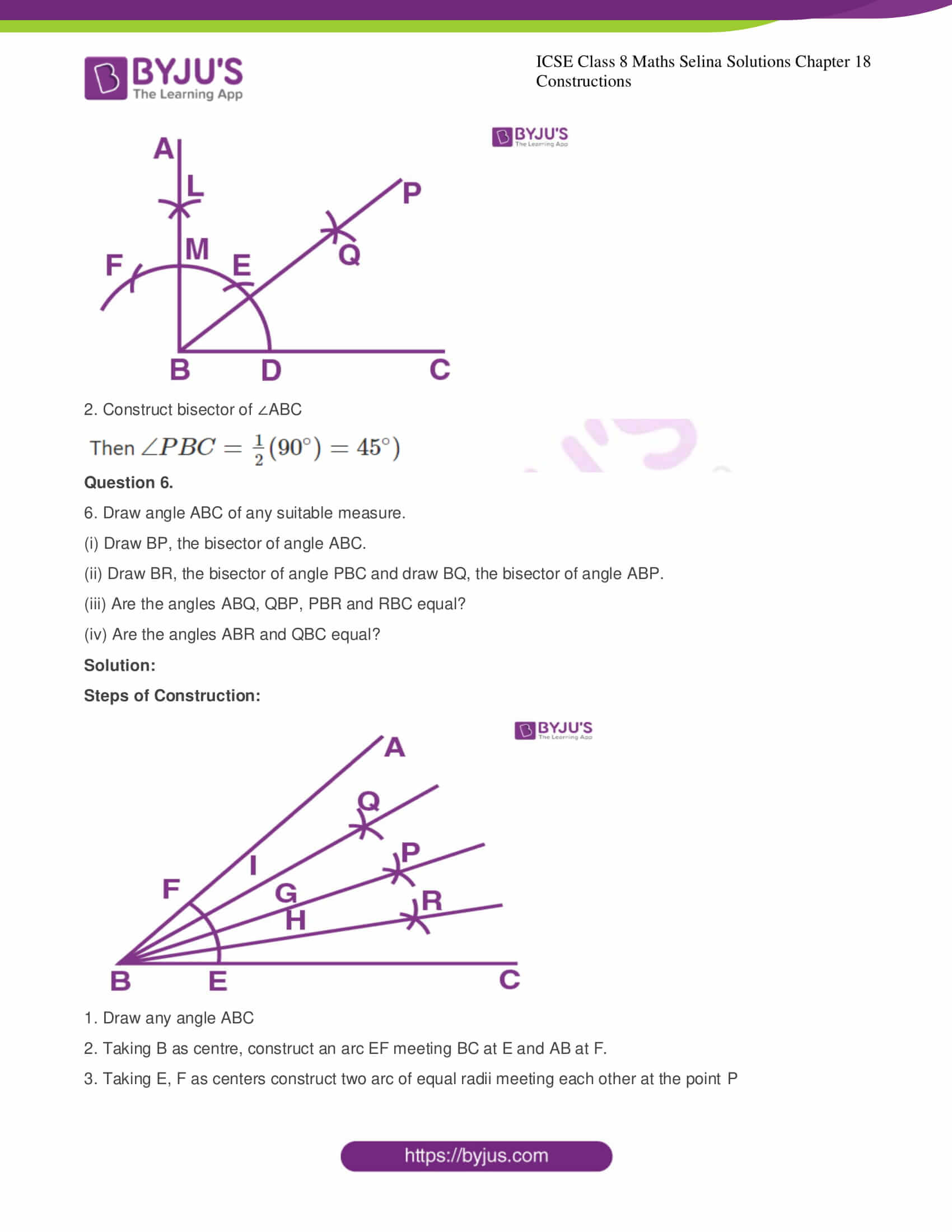 icse class 8 maths may3 selina solutions chapter 18 constructions 08