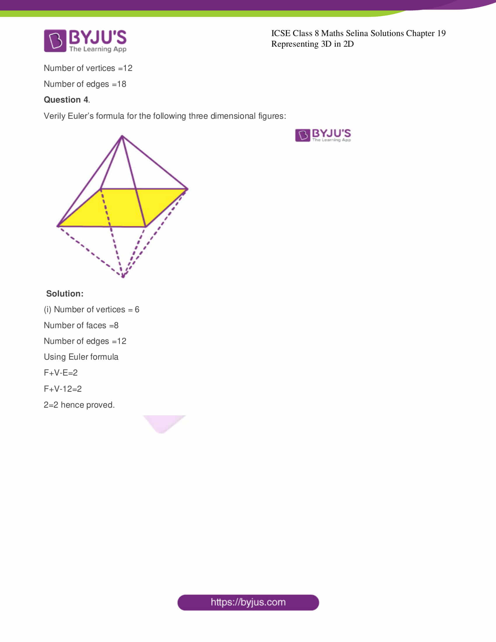 icse class 8 maths may3 selina solutions chapter 19 representing 3d in 2d 2