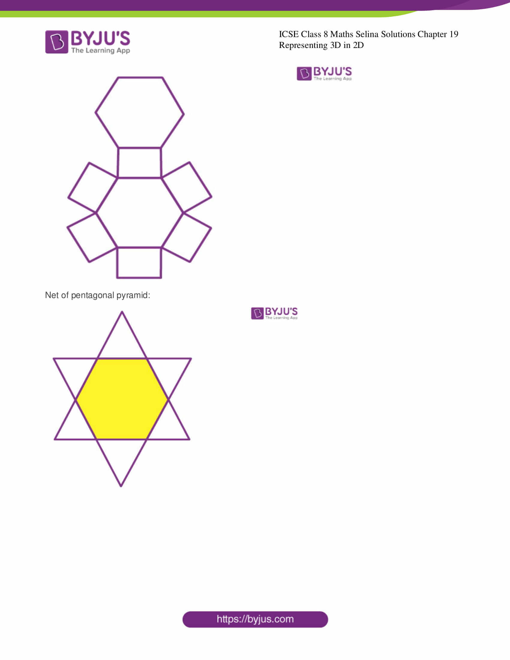 icse class 8 maths may3 selina solutions chapter 19 representing 3d in 2d 9