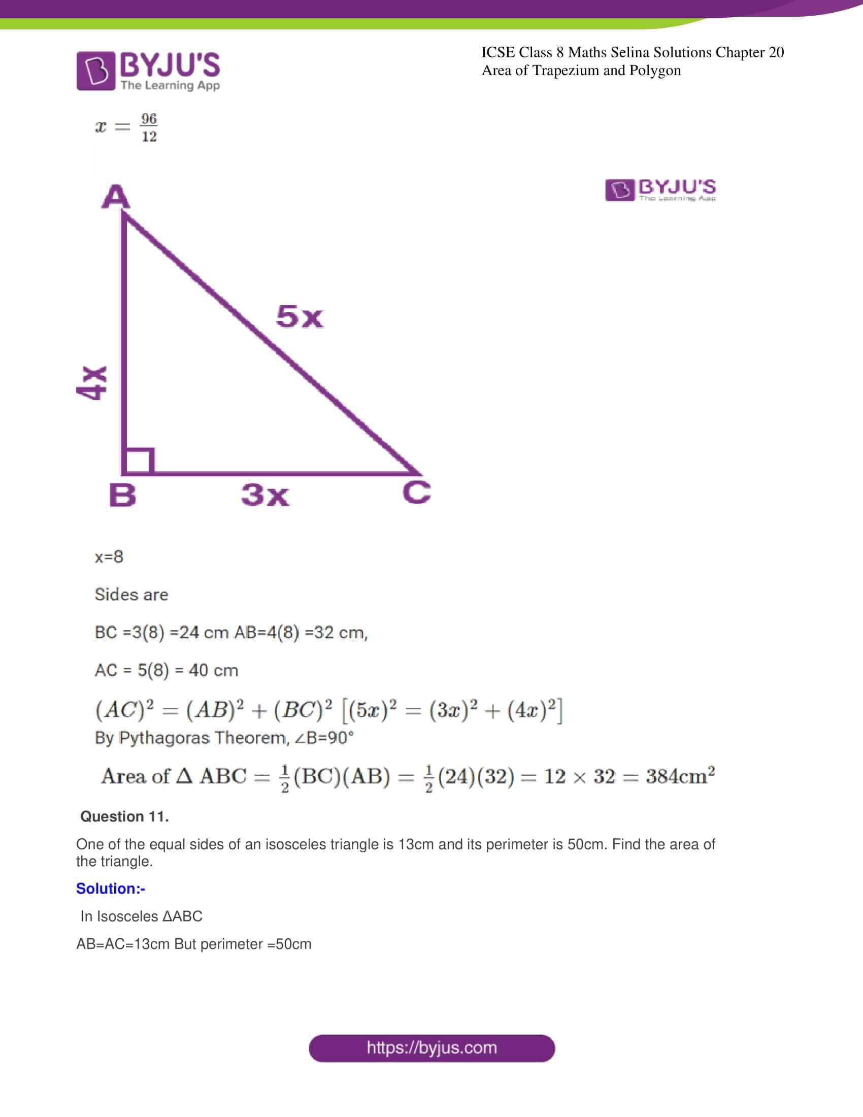 icse class 8 maths may3 selina solutions chapter 20 area of trapezium and polygon 07