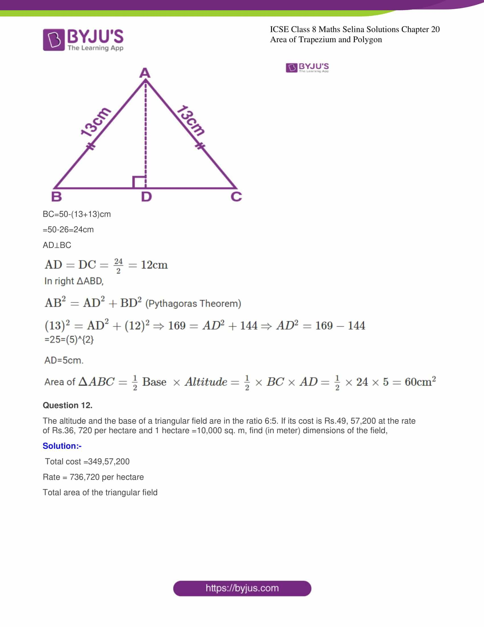icse class 8 maths may3 selina solutions chapter 20 area of trapezium and polygon 08
