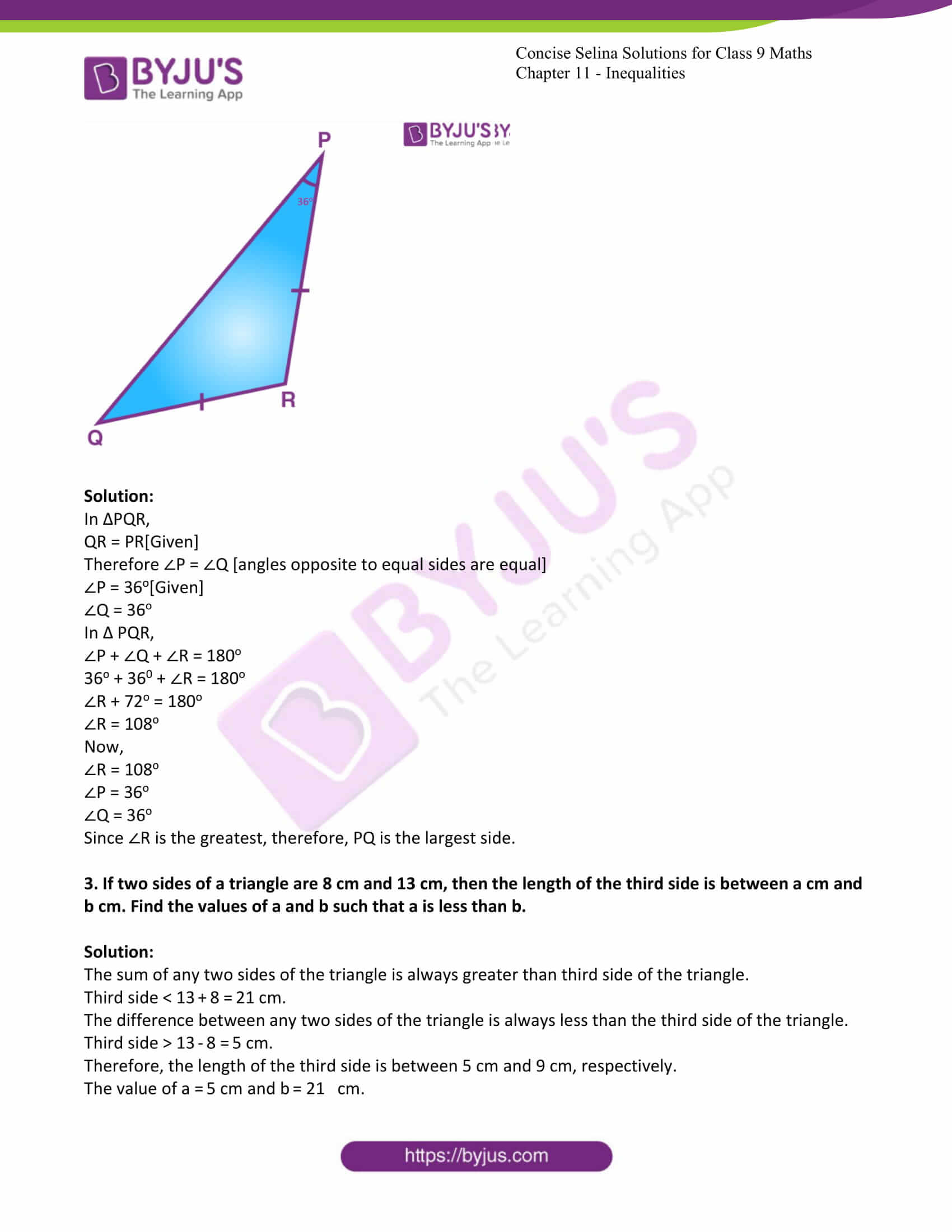 icse class 9 maths may10 selina solutions chapter 11 inequalities 02