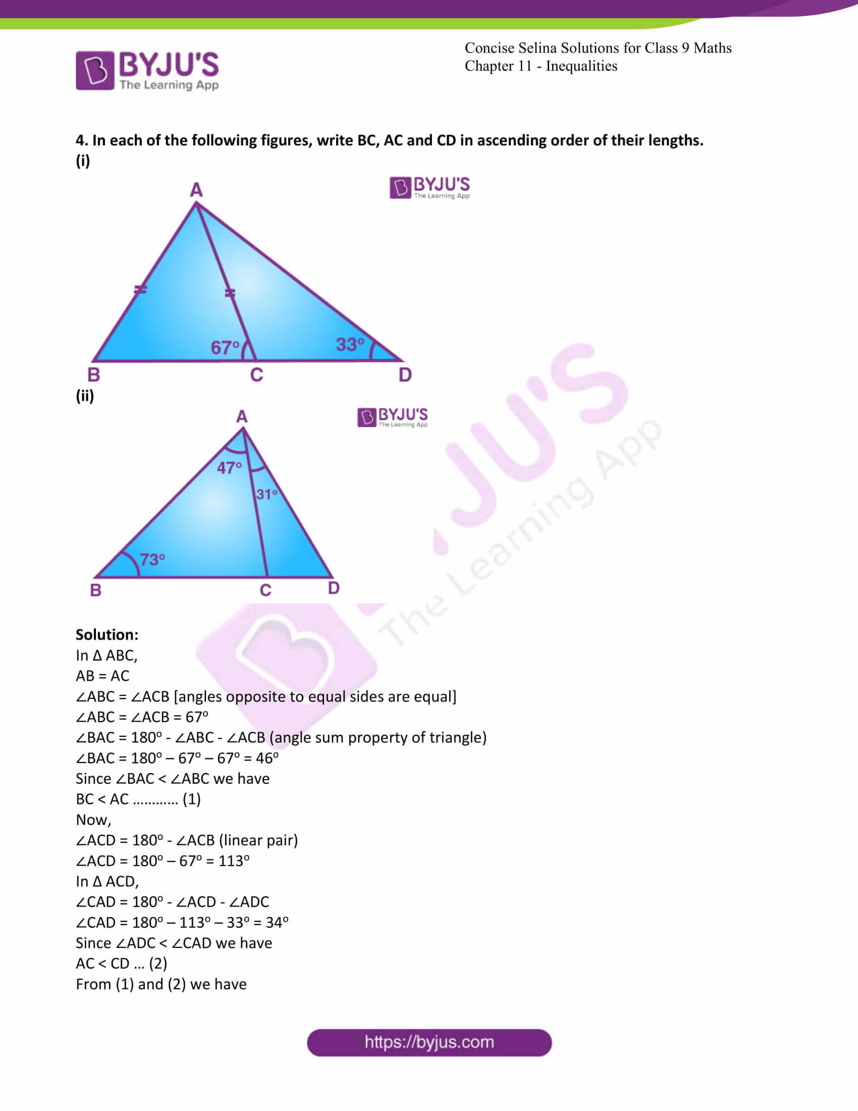 icse class 9 maths may10 selina solutions chapter 11 inequalities 03