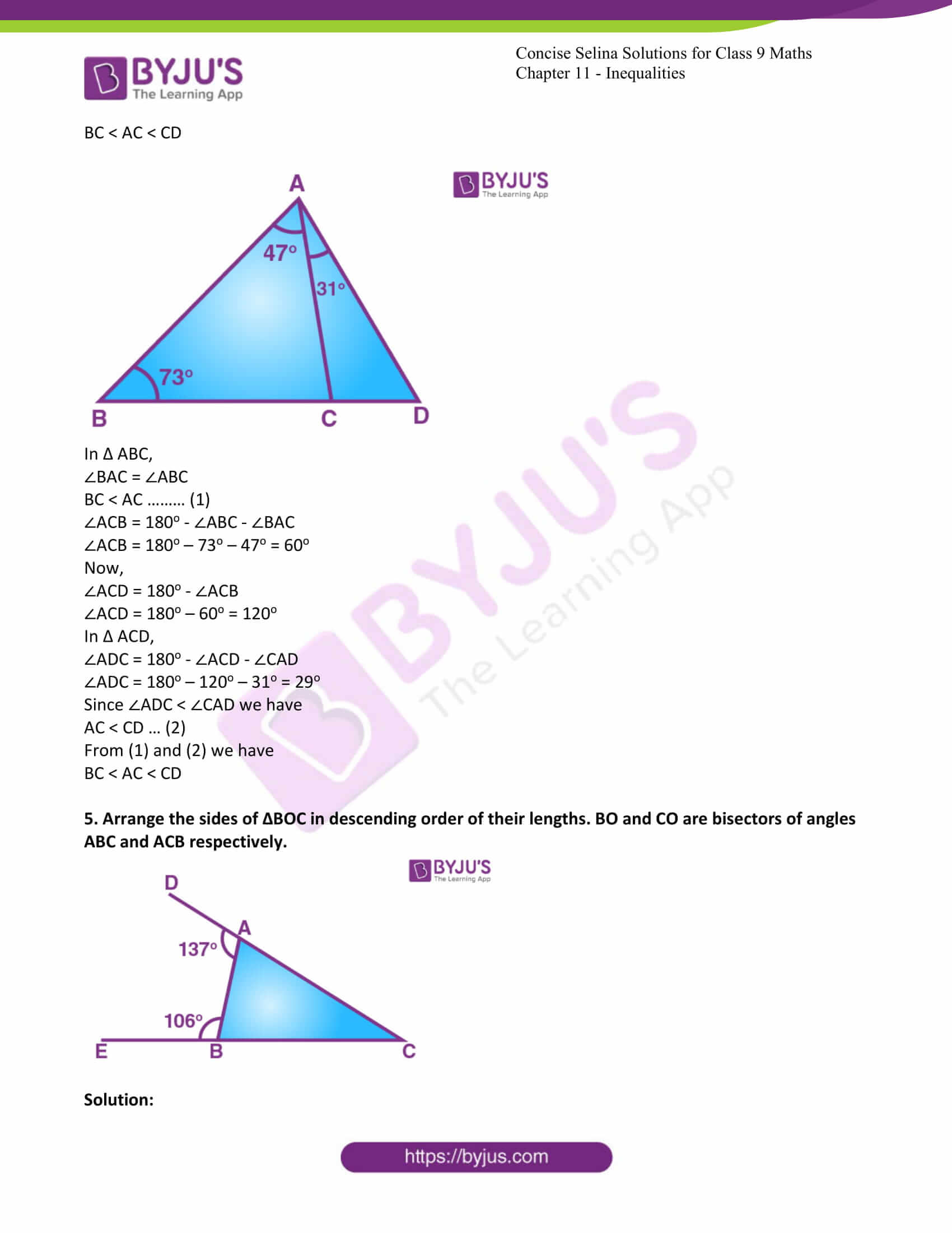 icse class 9 maths may10 selina solutions chapter 11 inequalities 04