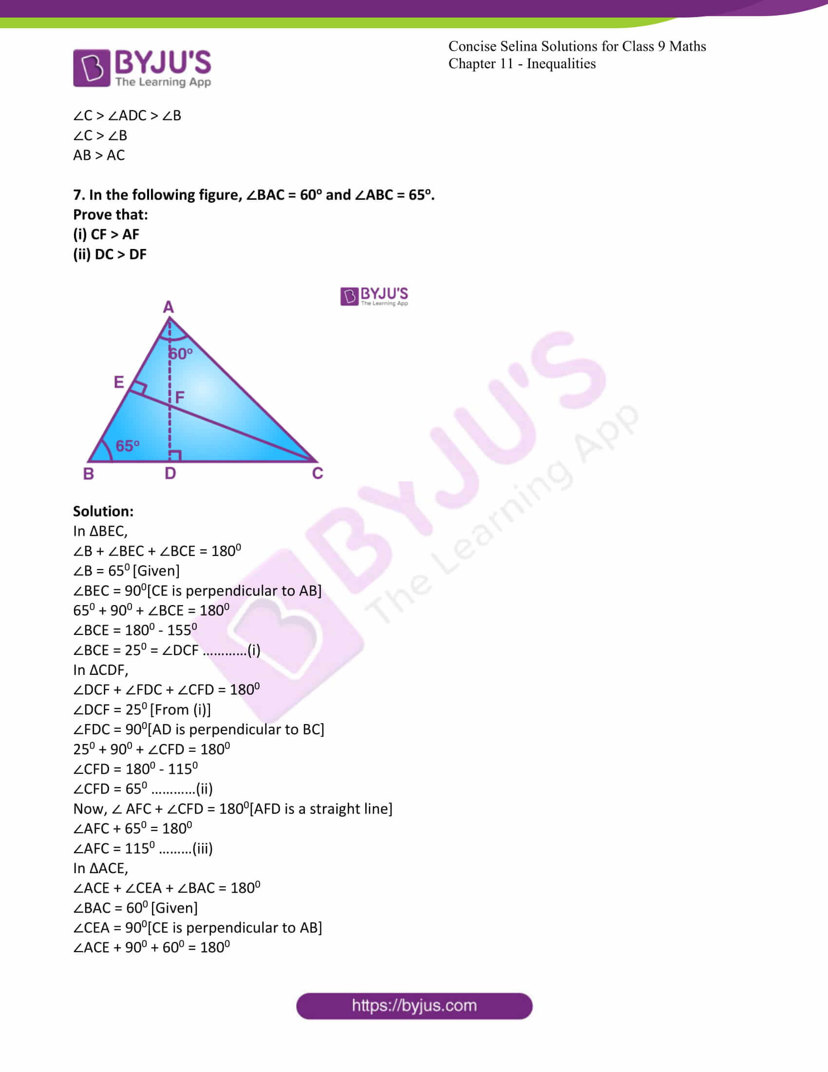 icse class 9 maths may10 selina solutions chapter 11 inequalities 06