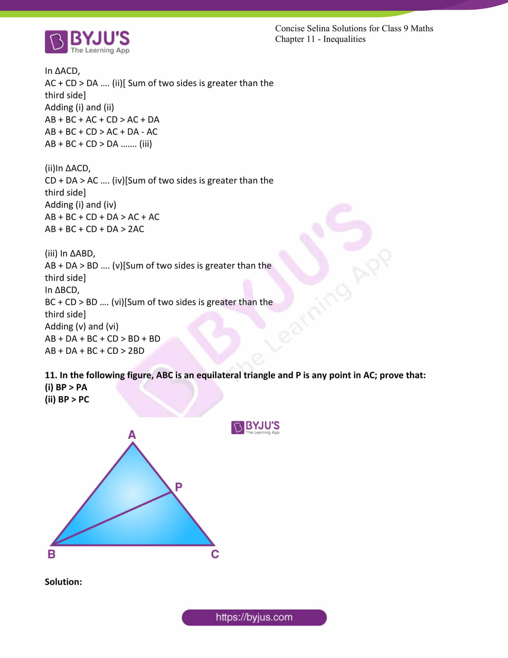 icse class 9 maths may10 selina solutions chapter 11 inequalities 10