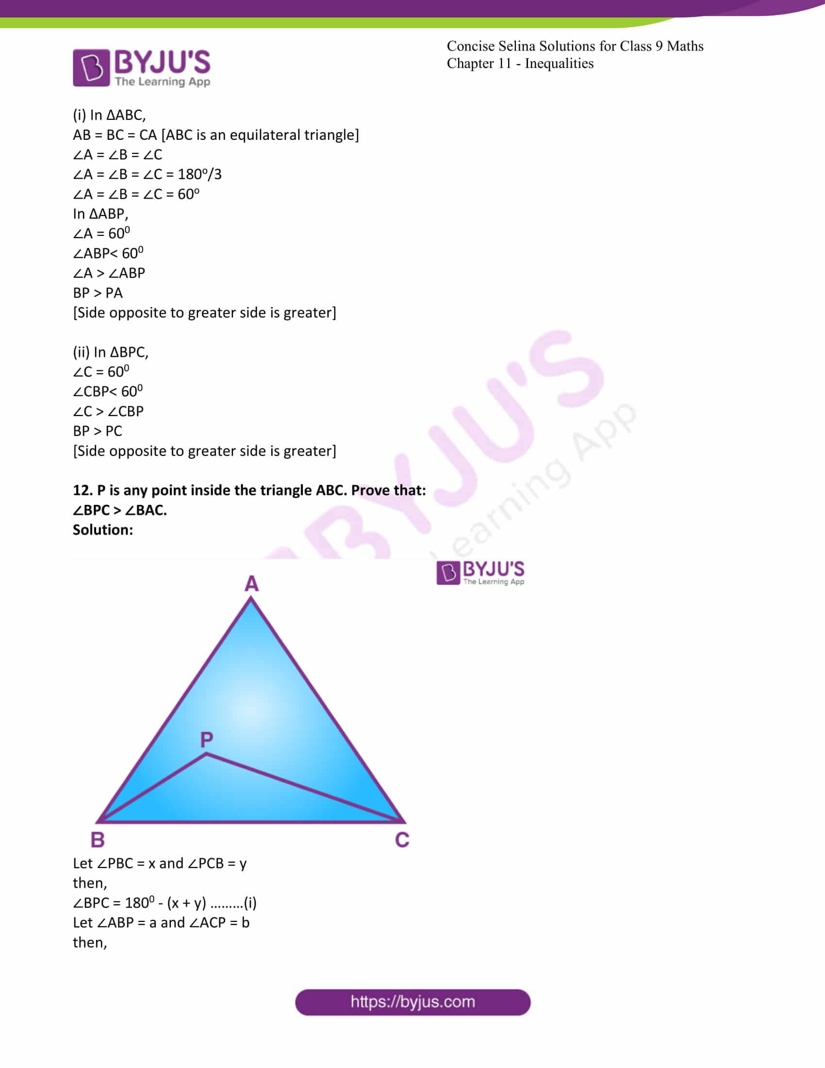 icse class 9 maths may10 selina solutions chapter 11 inequalities 11