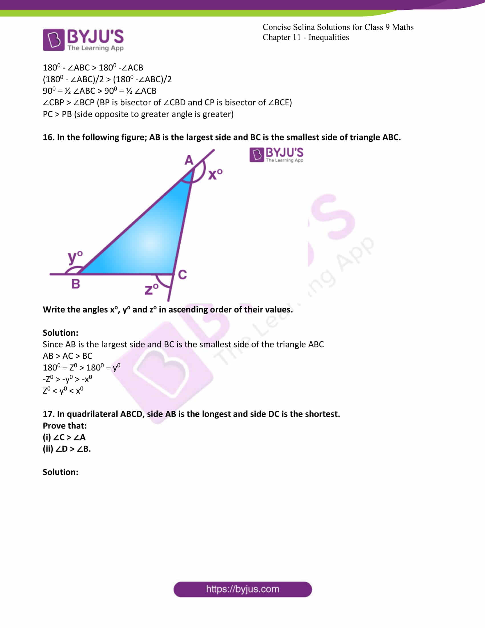 icse class 9 maths may10 selina solutions chapter 11 inequalities 15