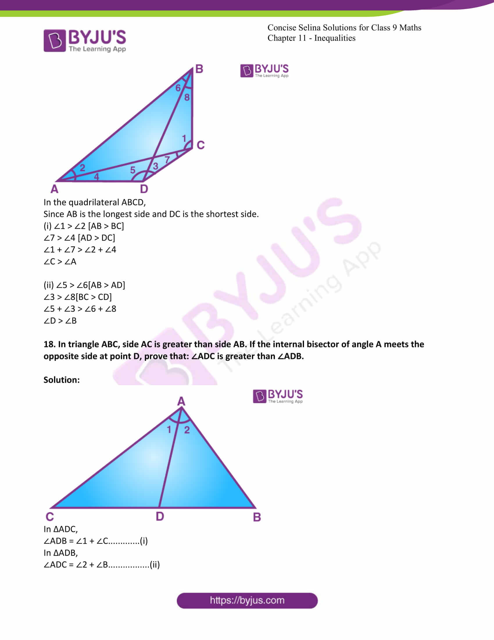 icse class 9 maths may10 selina solutions chapter 11 inequalities 16