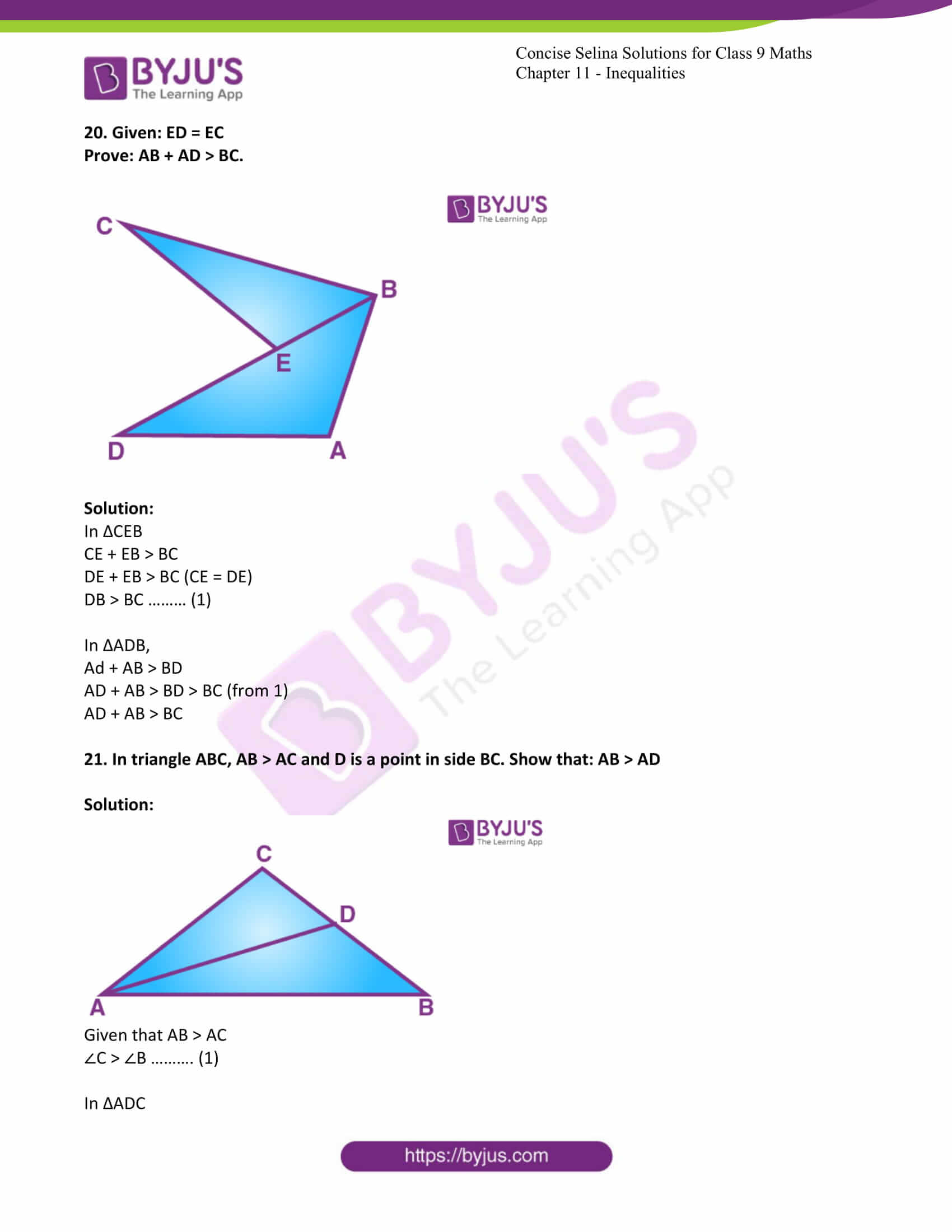 icse class 9 maths may10 selina solutions chapter 11 inequalities 18