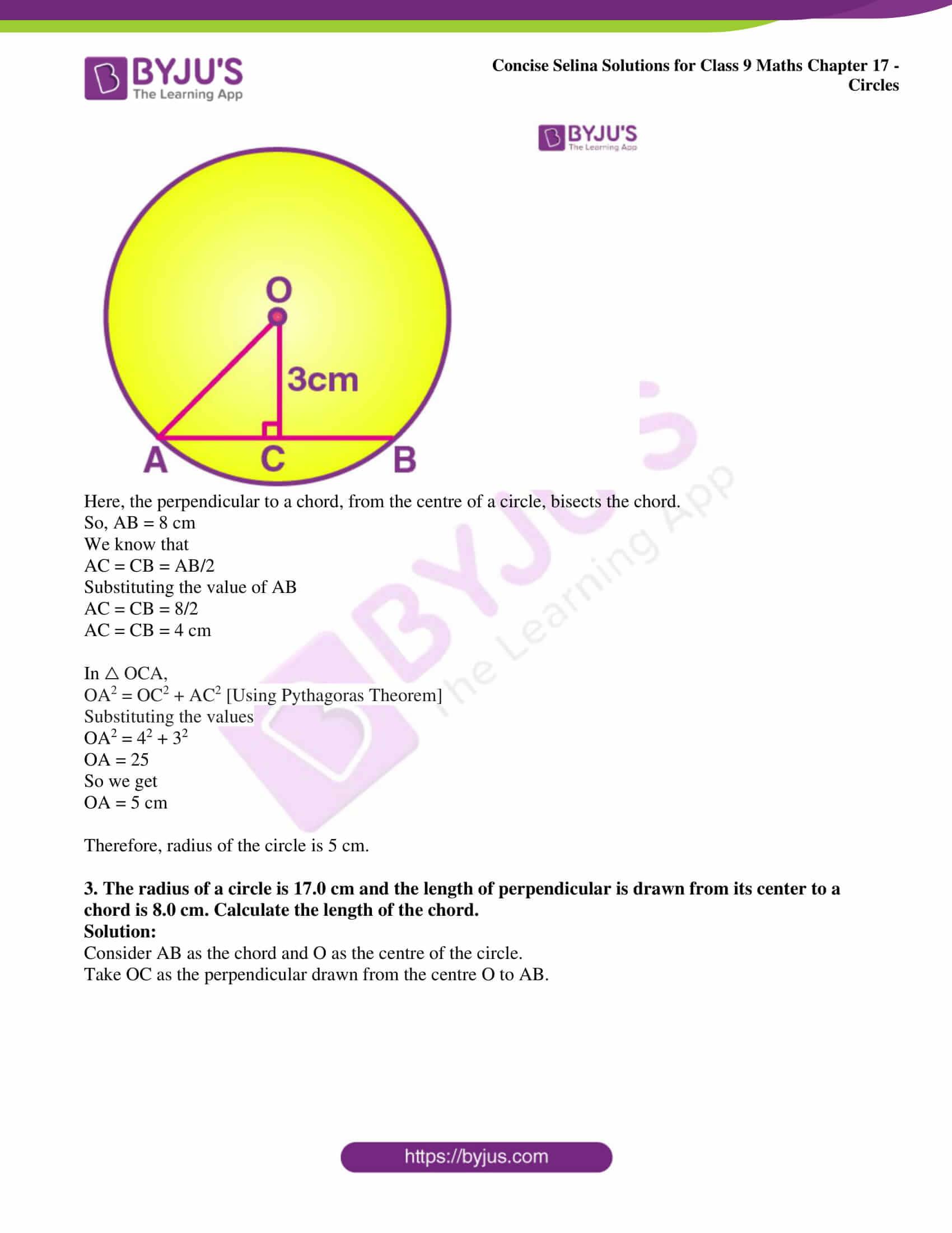 icse class 9 maths may10 selina solutions chapter 17 circles 02