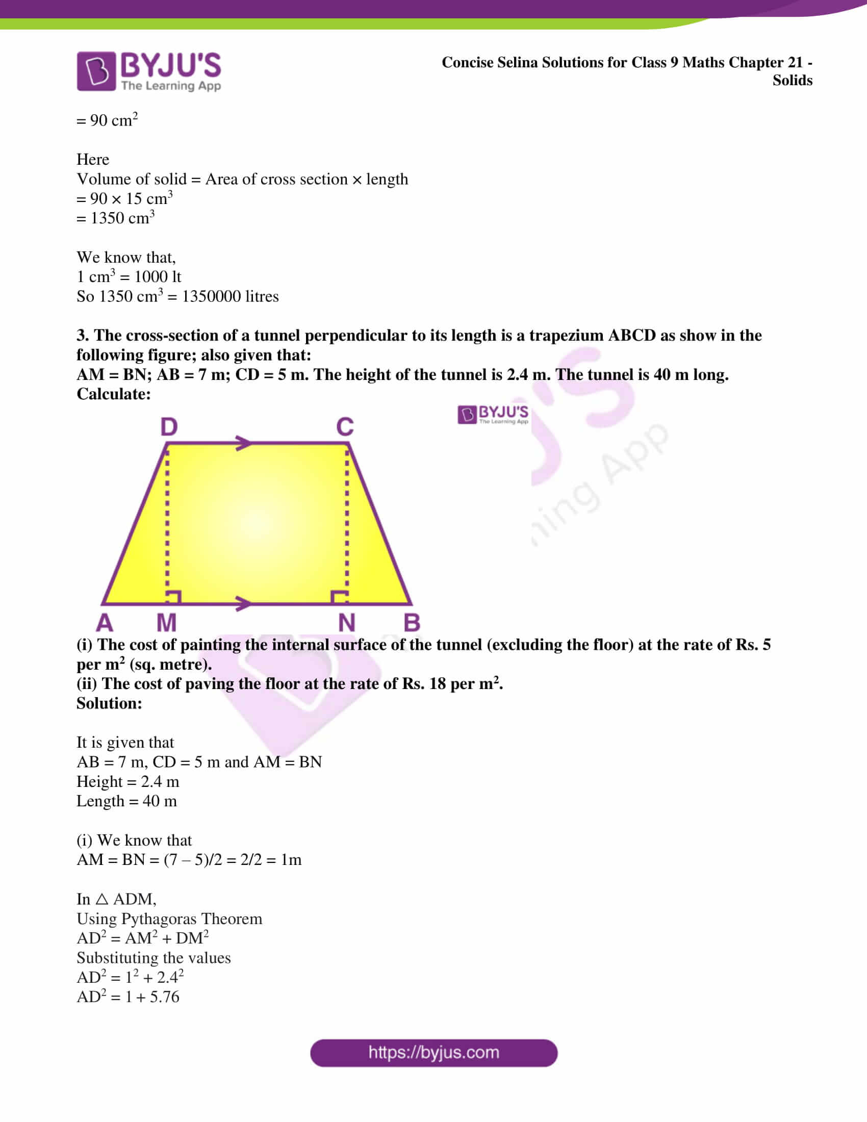 icse class 9 maths may10 selina solutions chapter 21 solids 06