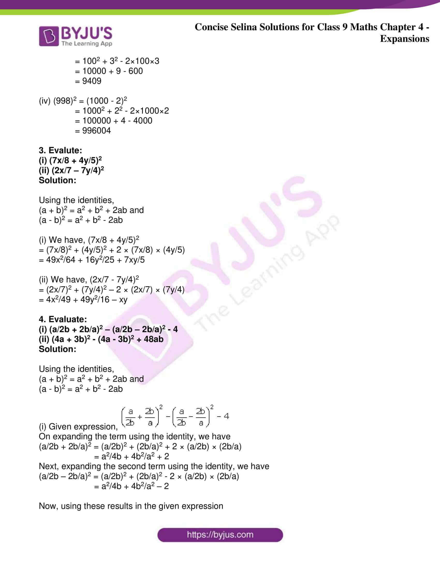 icse class 9 maths may10 selina solutions chapter 4 expansions 02
