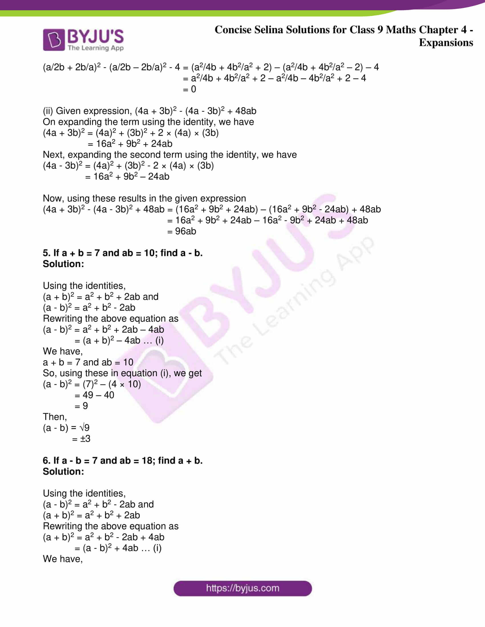 icse class 9 maths may10 selina solutions chapter 4 expansions 03