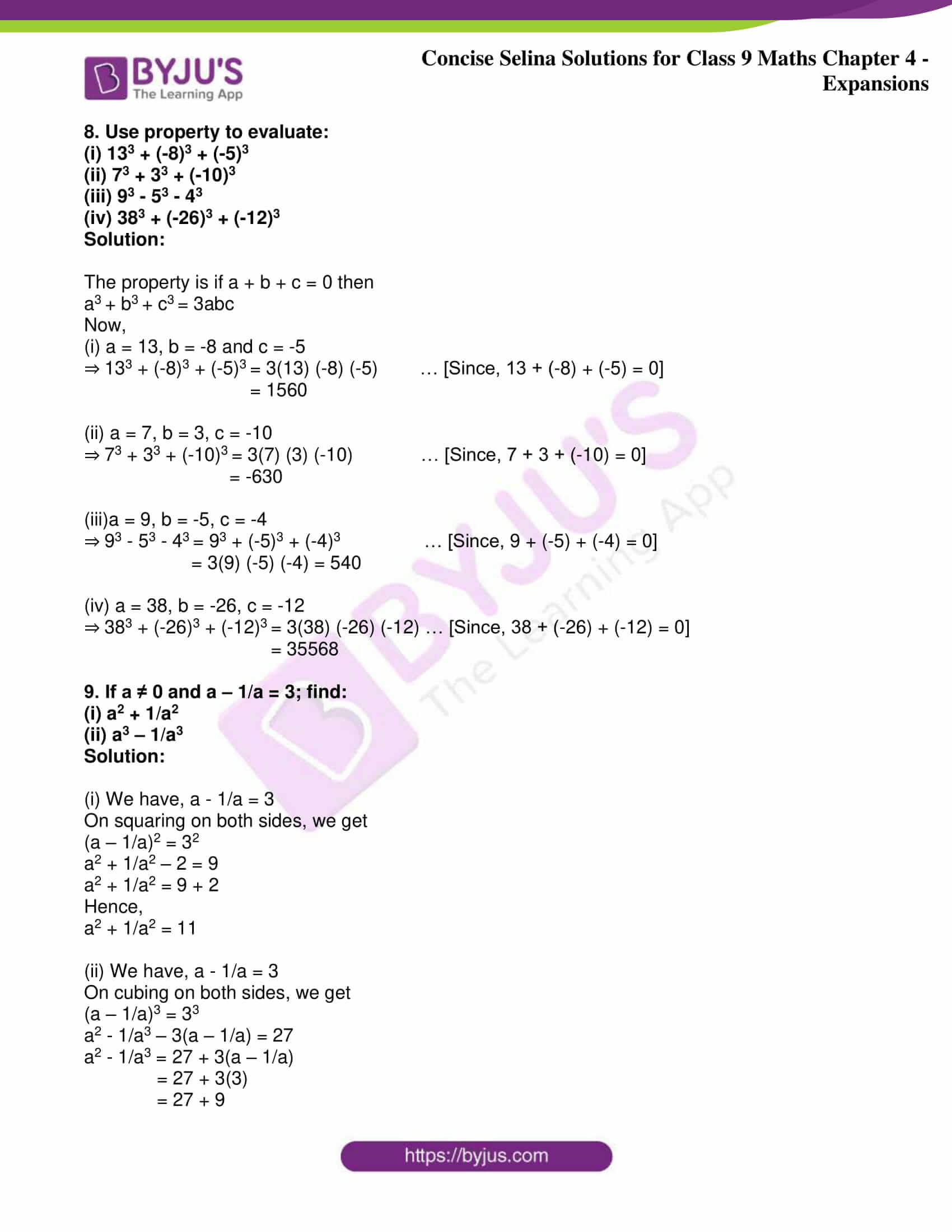 icse class 9 maths may10 selina solutions chapter 4 expansions 13