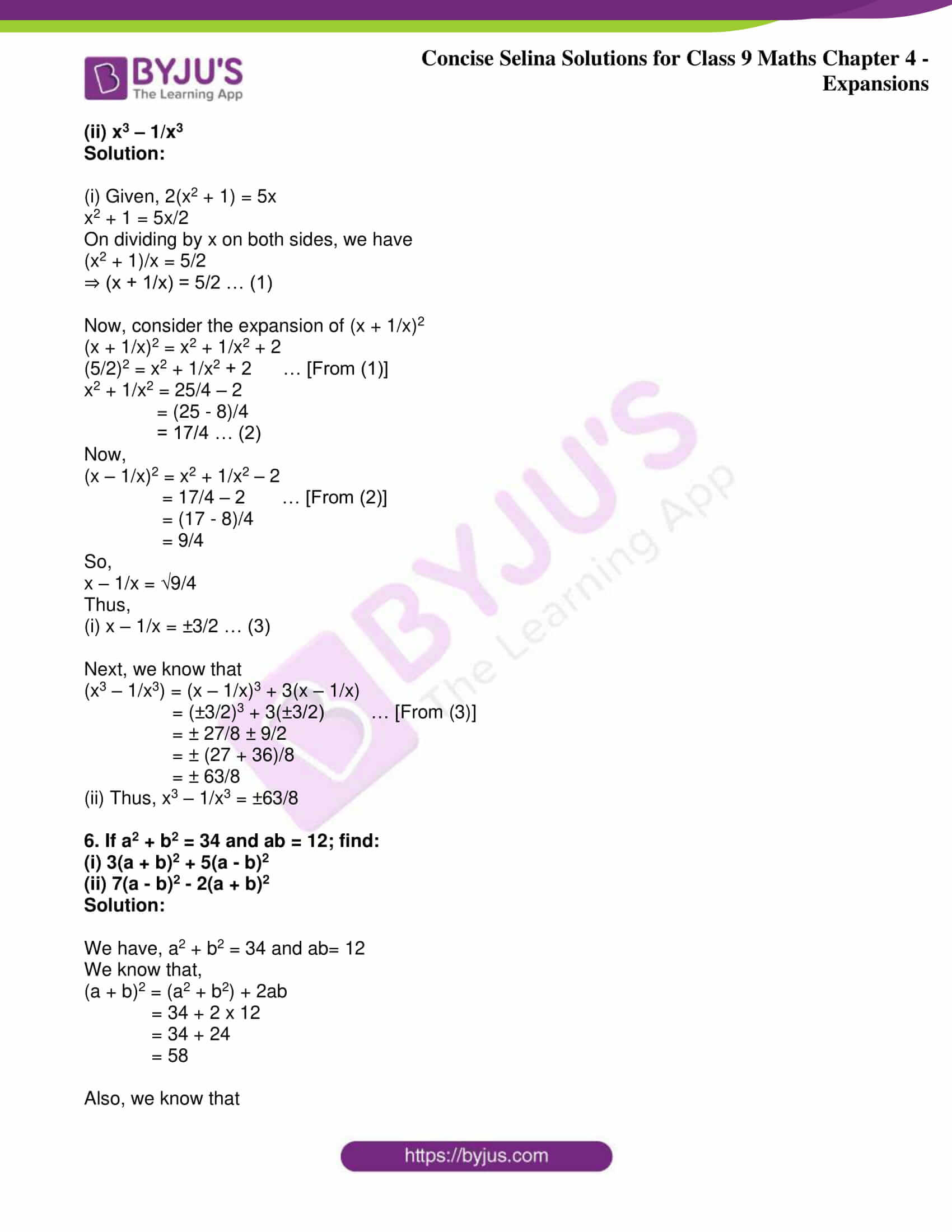 icse class 9 maths may10 selina solutions chapter 4 expansions 23