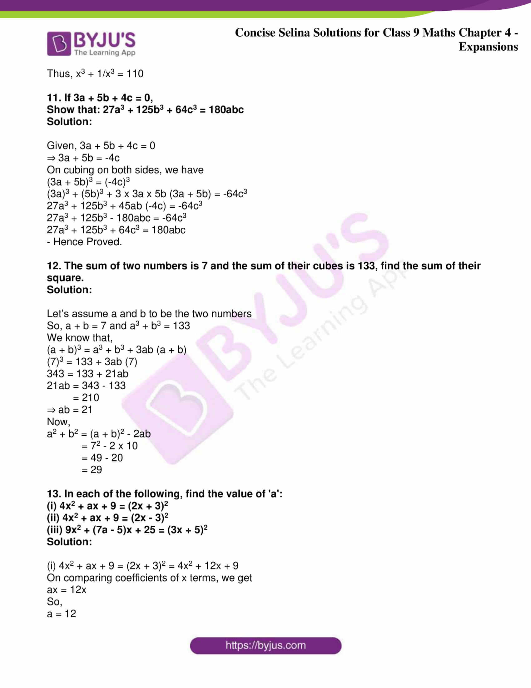 icse class 9 maths may10 selina solutions chapter 4 expansions 26