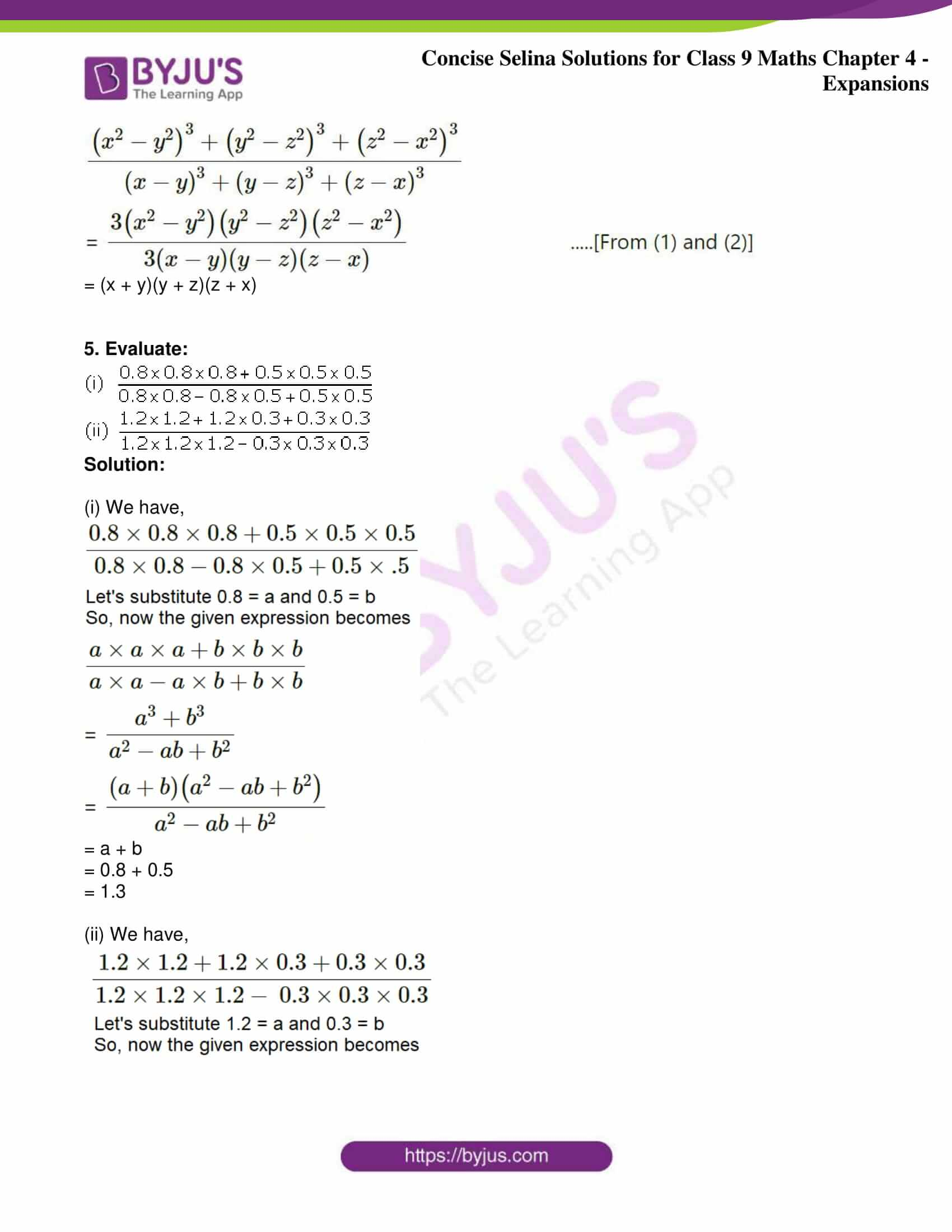 icse class 9 maths may10 selina solutions chapter 4 expansions 31