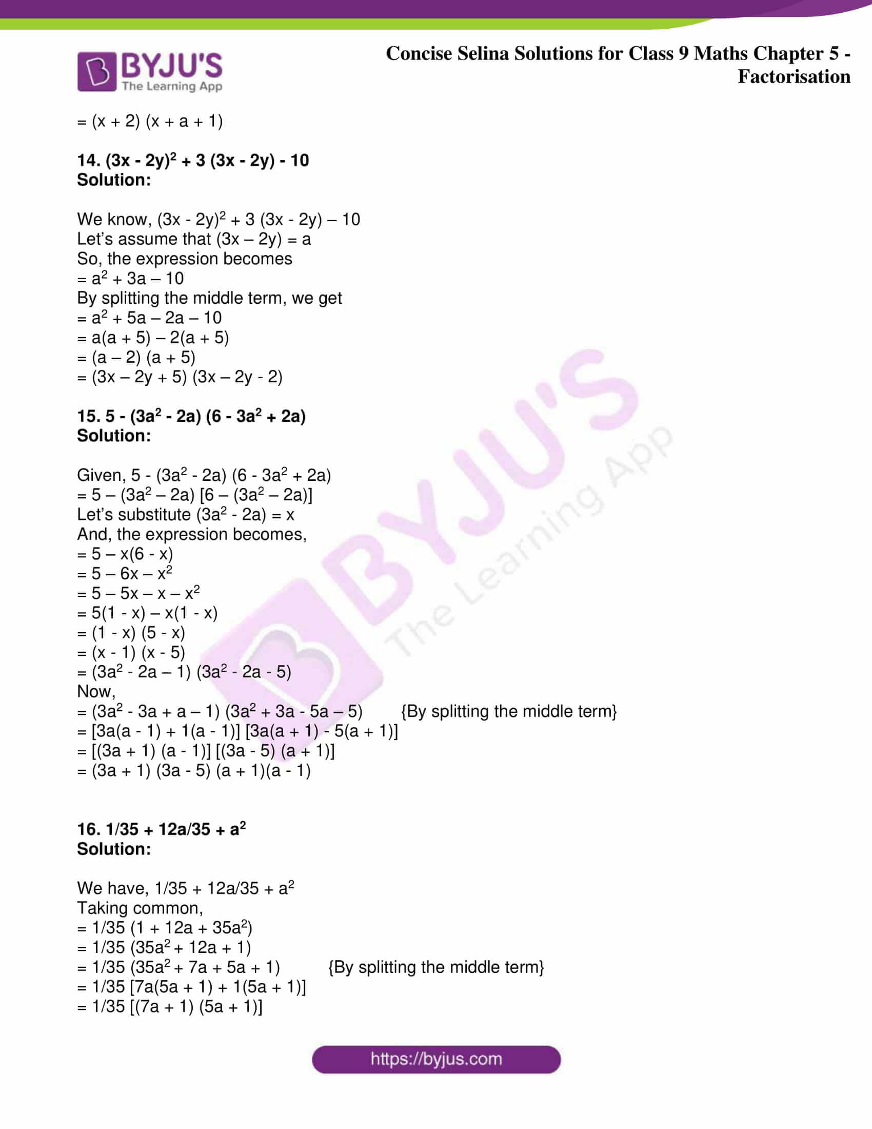 icse class 9 maths may10 selina solutions chapter 5 factorisation 09