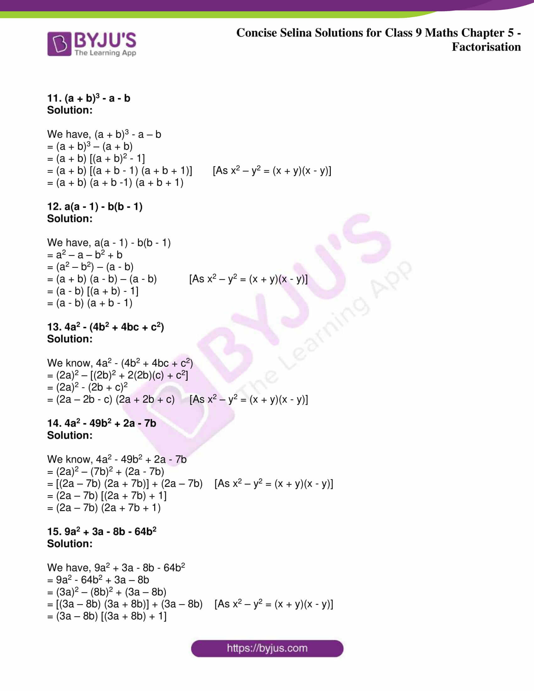 icse class 9 maths may10 selina solutions chapter 5 factorisation 15
