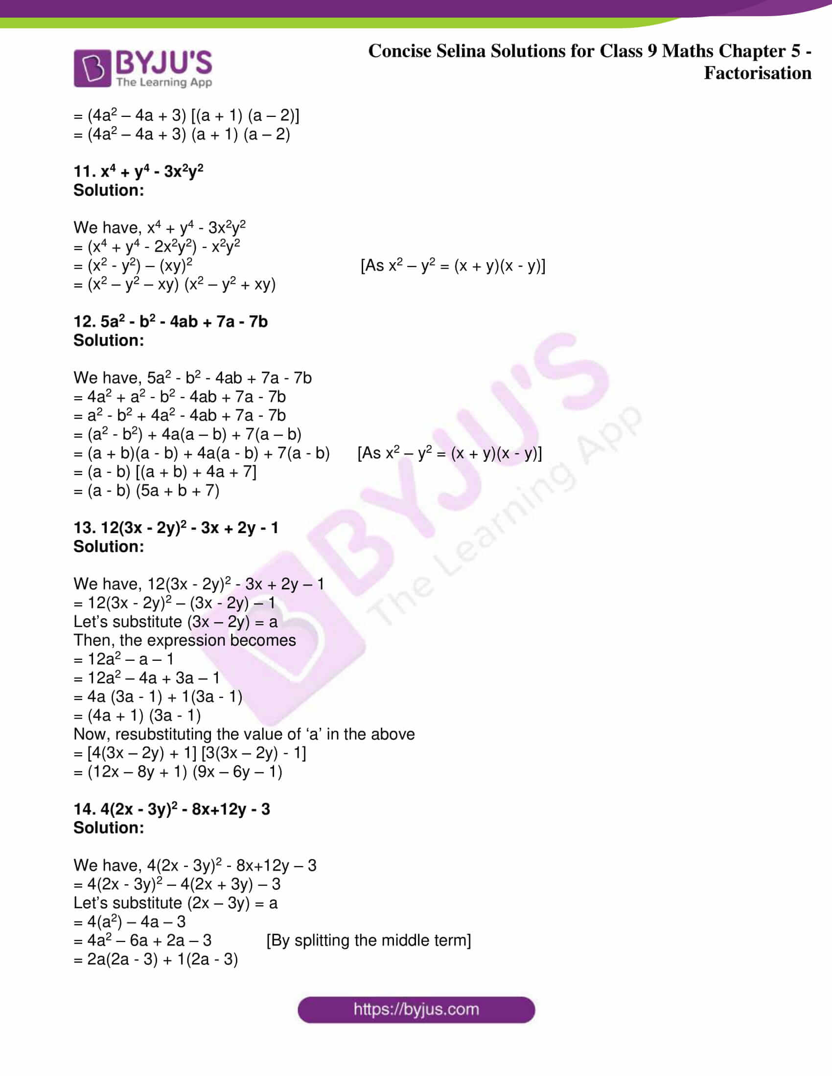 icse class 9 maths may10 selina solutions chapter 5 factorisation 28