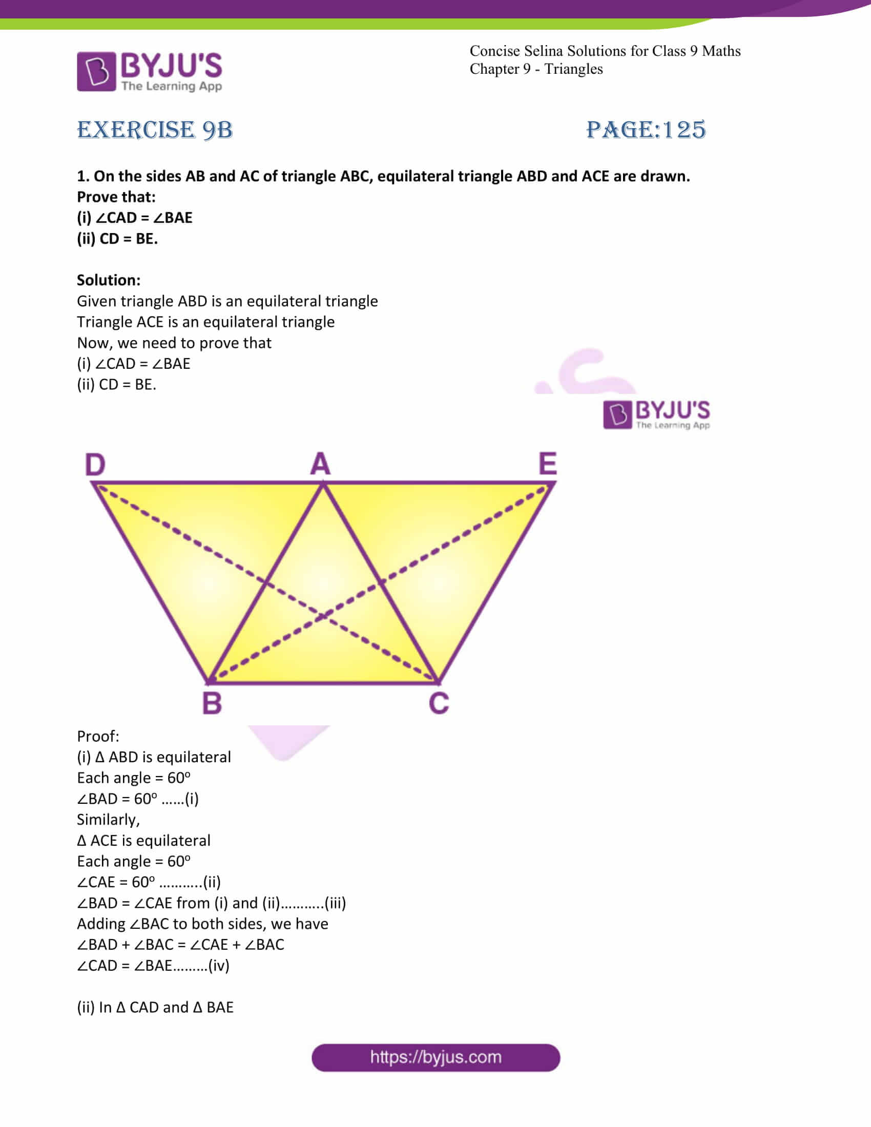 icse class 9 maths may10 selina solutions chapter 9 triangles 17