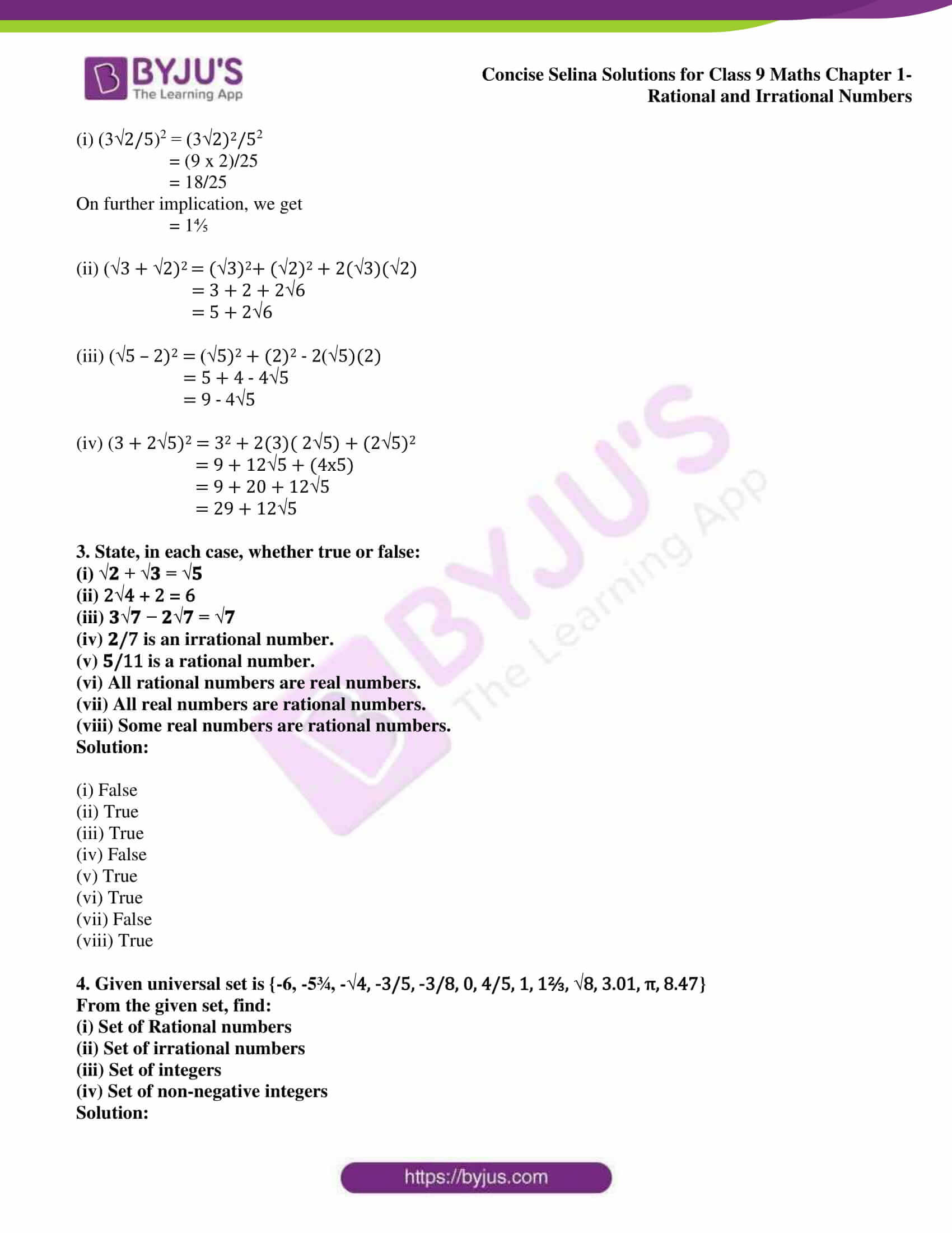 icse class 9 maths may13 selina solutions chapter 1 rational and irrational numbers 06
