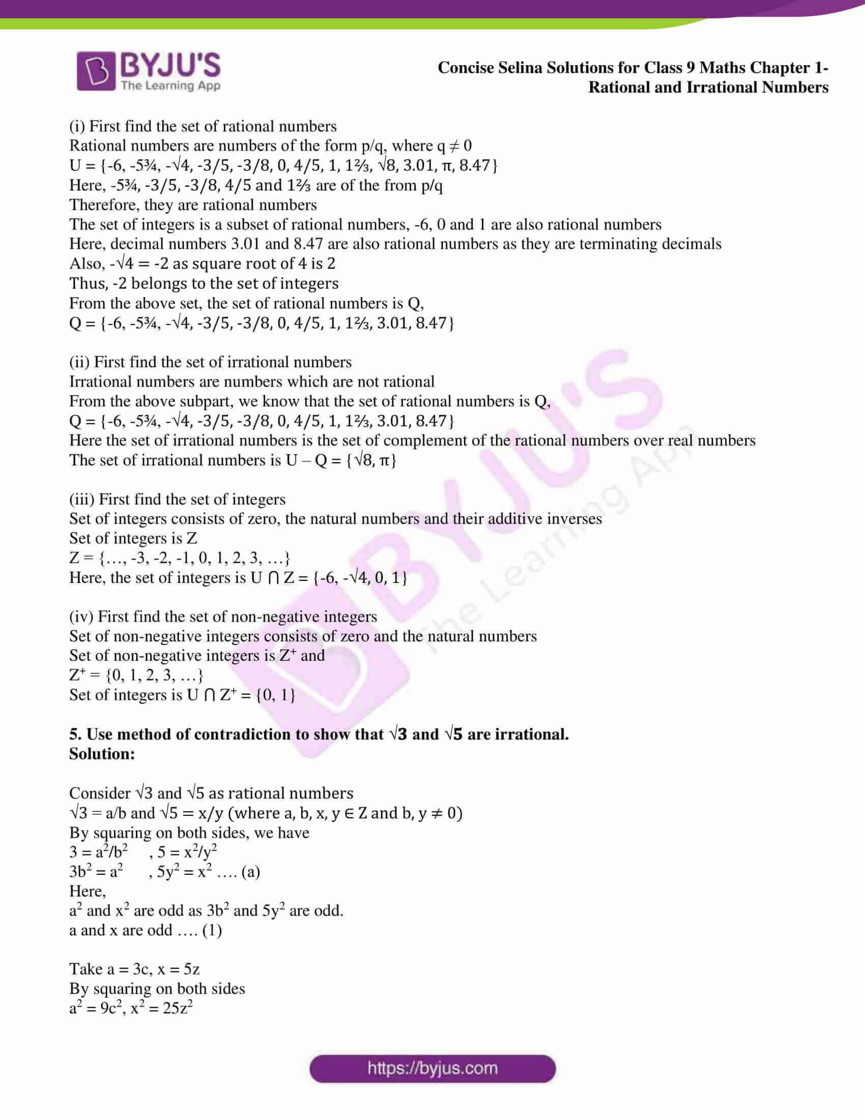 icse class 9 maths may13 selina solutions chapter 1 rational and irrational numbers 07
