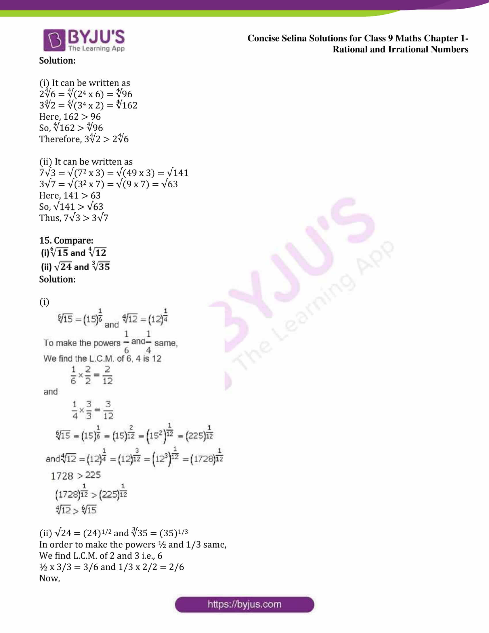 icse class 9 maths may13 selina solutions chapter 1 rational and irrational numbers 12