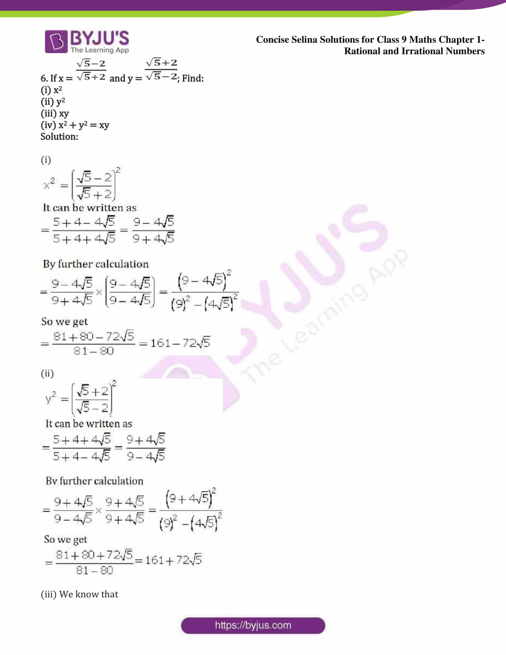icse class 9 maths may13 selina solutions chapter 1 rational and irrational numbers 23