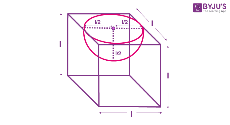 A hemispherical depression is cut out from one face of a cubical wooden block