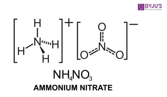 Ammonium Nitrate Structure