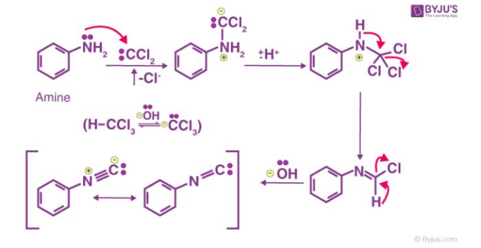 Carbylamine Reaction Mechanism
