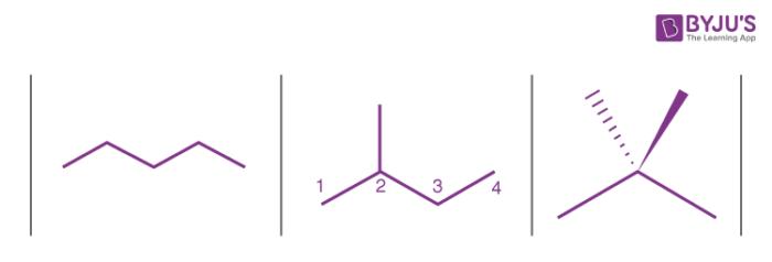Skeletal isomers of pentane