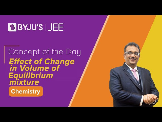 Effect of Change in Volume of Equilibrium Mixture