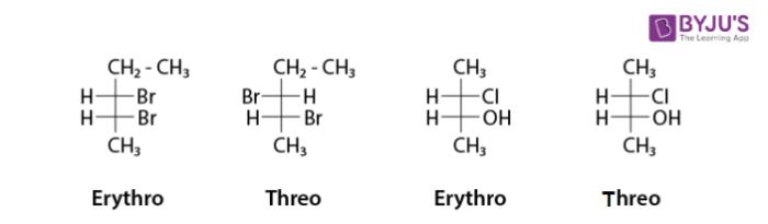 Erythro and Threo Diastereomers