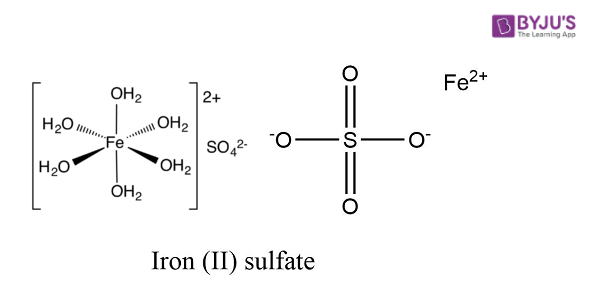 Ferrous Sulfate Structure - FeSO4