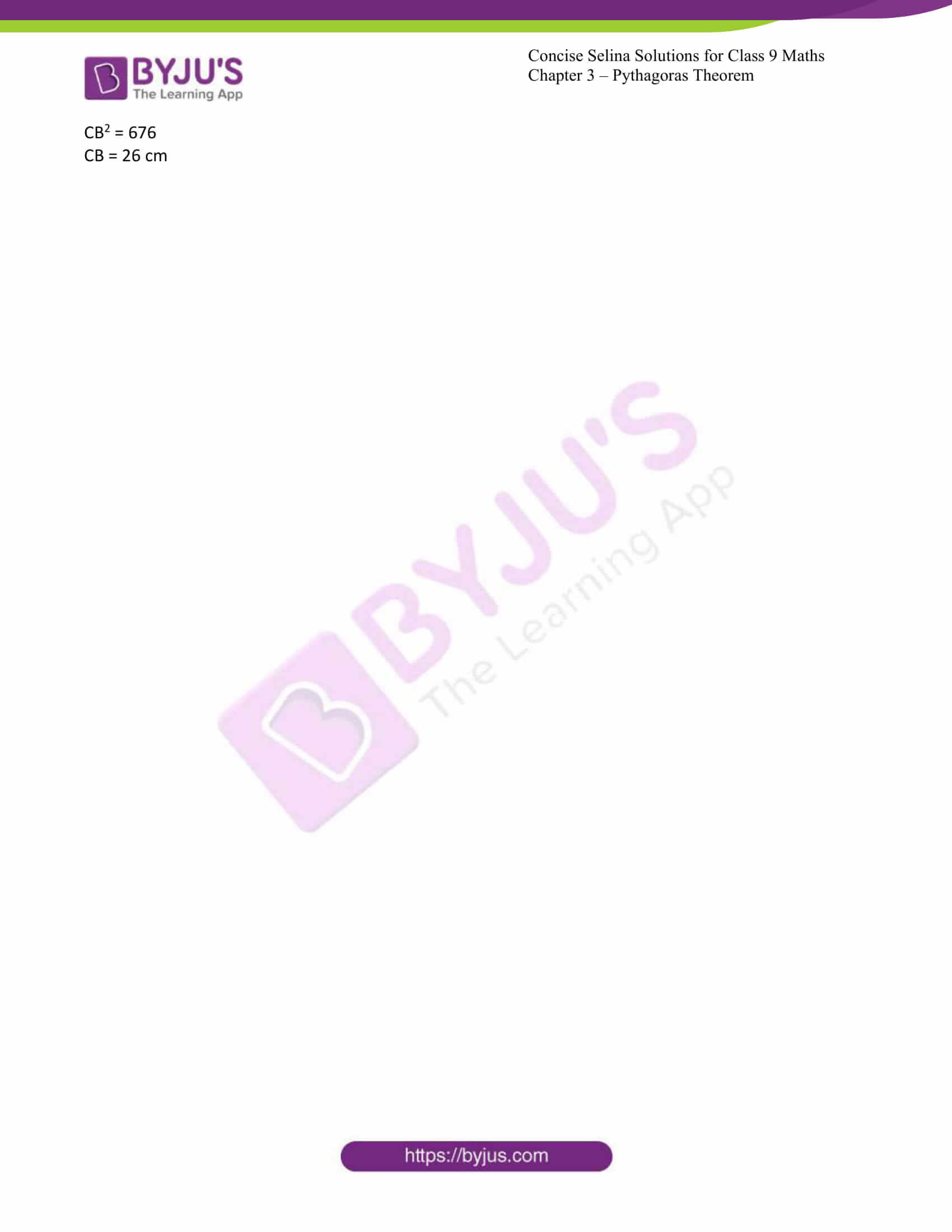 icse class 9 jun7 maths selina solutions chapter 13 pythagoras theorem 07