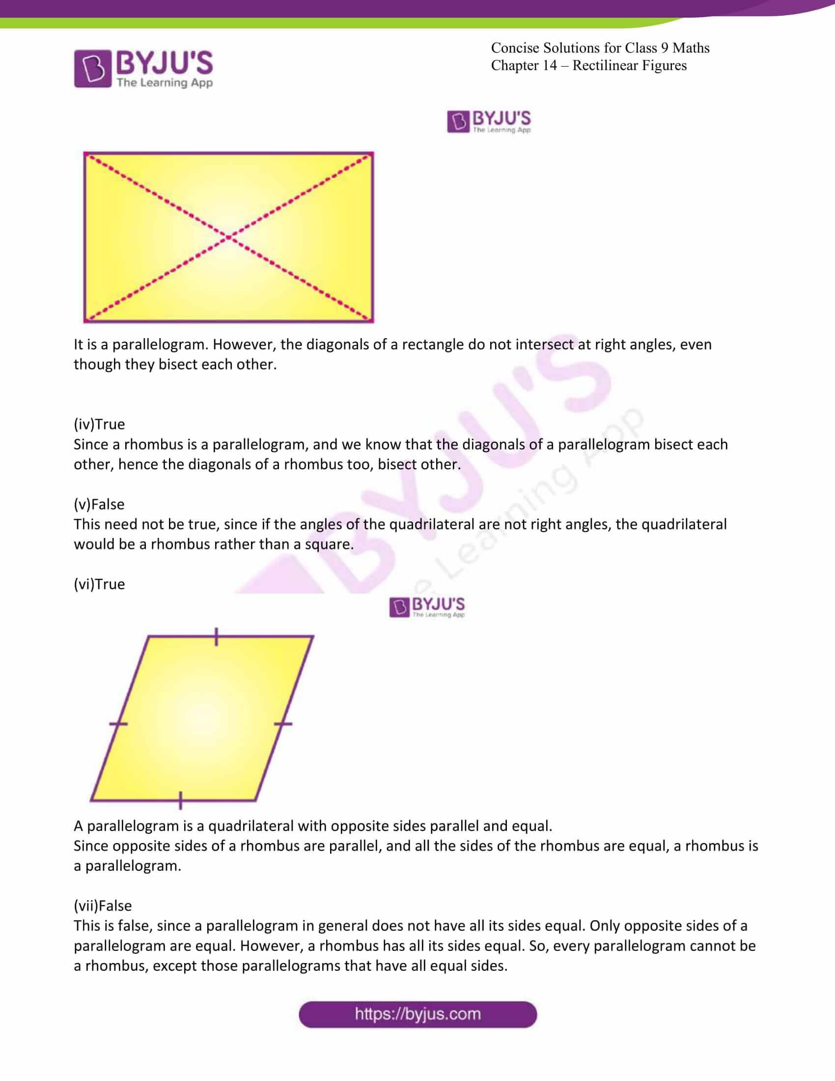 icse class 9 jun7 maths selina solutions chapter 14 rectilinear figures 06