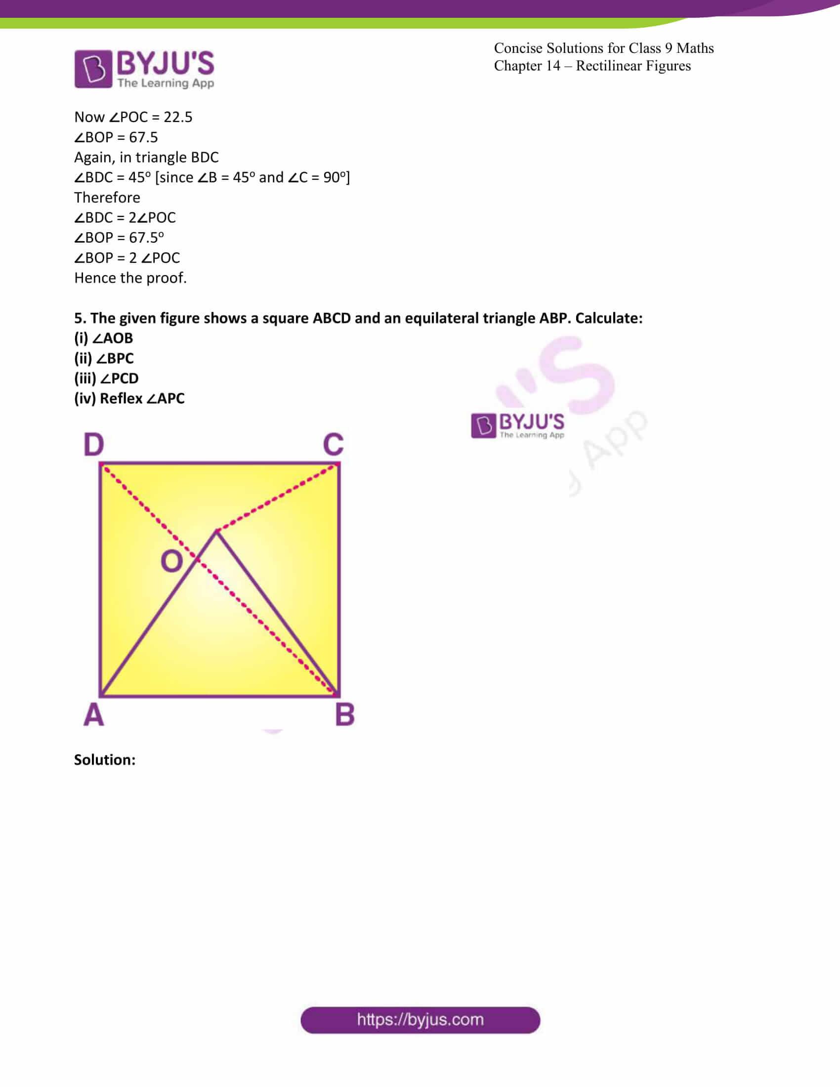 icse class 9 jun7 maths selina solutions chapter 14 rectilinear figures 10