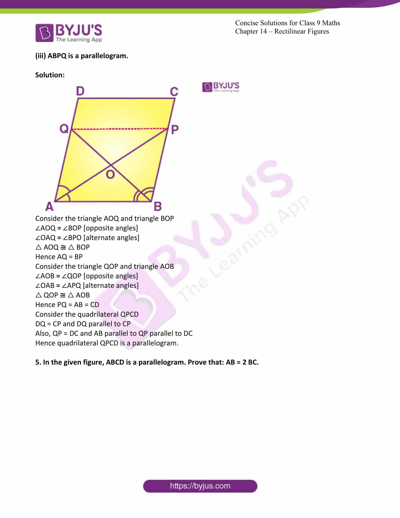 icse class 9 jun7 maths selina solutions chapter 14 rectilinear figures 15