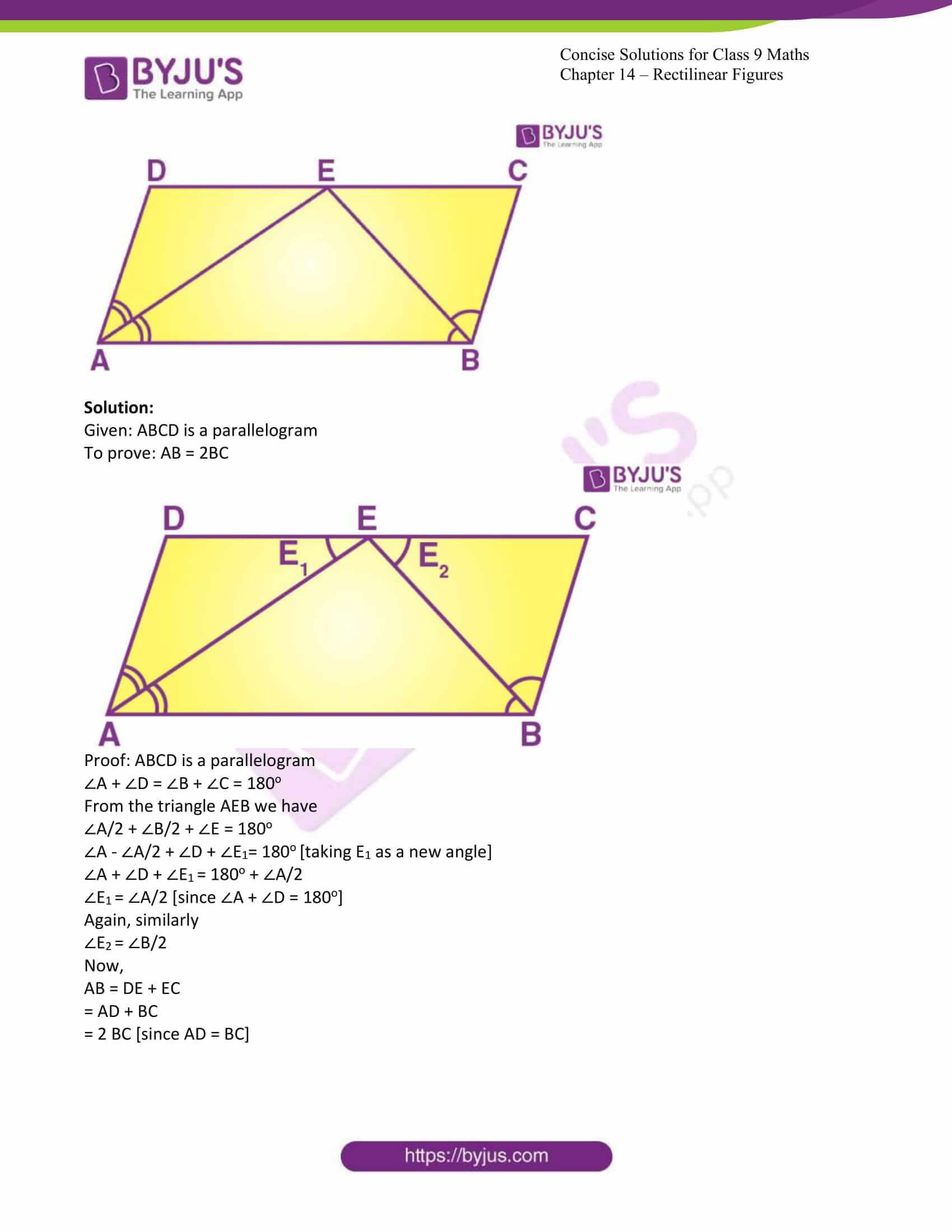icse class 9 jun7 maths selina solutions chapter 14 rectilinear figures 16