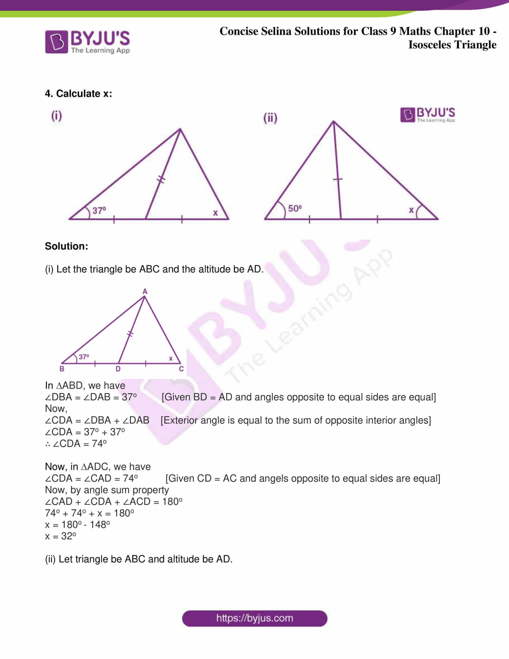 icse class 9 jun8 maths selina solutions chapter 10 isosceles triangles 04